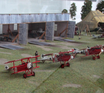 A portion of the Jagdstaffel 18 diorama on display in Germany.